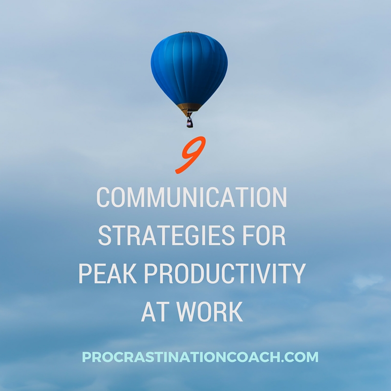 Communication strategies for peak productivity at work