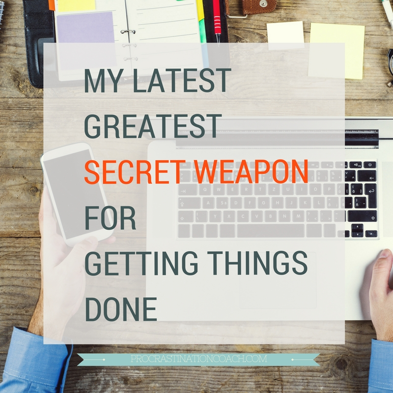 A secret weapon for getting things done